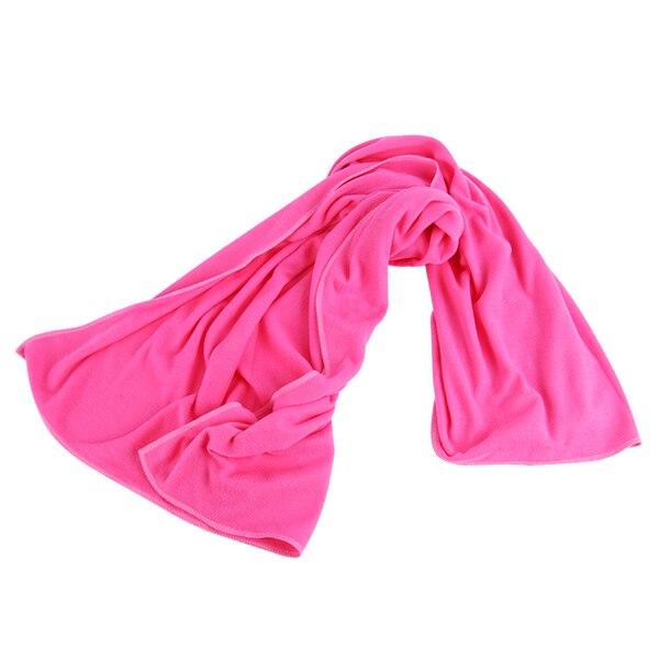 70*140 см большое полотенце для ванны быстросохнущее микрофибра Спорт Пляж плавать путешествия Кемпинг мягкое полотенце s - Цвет: dark pink
