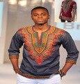 2016 Vestidos Para La Ropa Dashiki Africano Odom Blusa de manga Corta de Los Hombres Tamaños Más Grandes Camisetas Impresas Pokemon3 Viento Popular Color