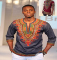 2016 Vestidos Para Roupas Africano Dashiki Odom Curta-mangas compridas Blusa Homens Tamanhos Maiores Impresso Camisetas Folk Vento Pokemon3 Cor