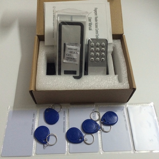 Full metal Fingerprint Biometric access control system rfid reader door access control +5pcs id card +5pcs id keyfob