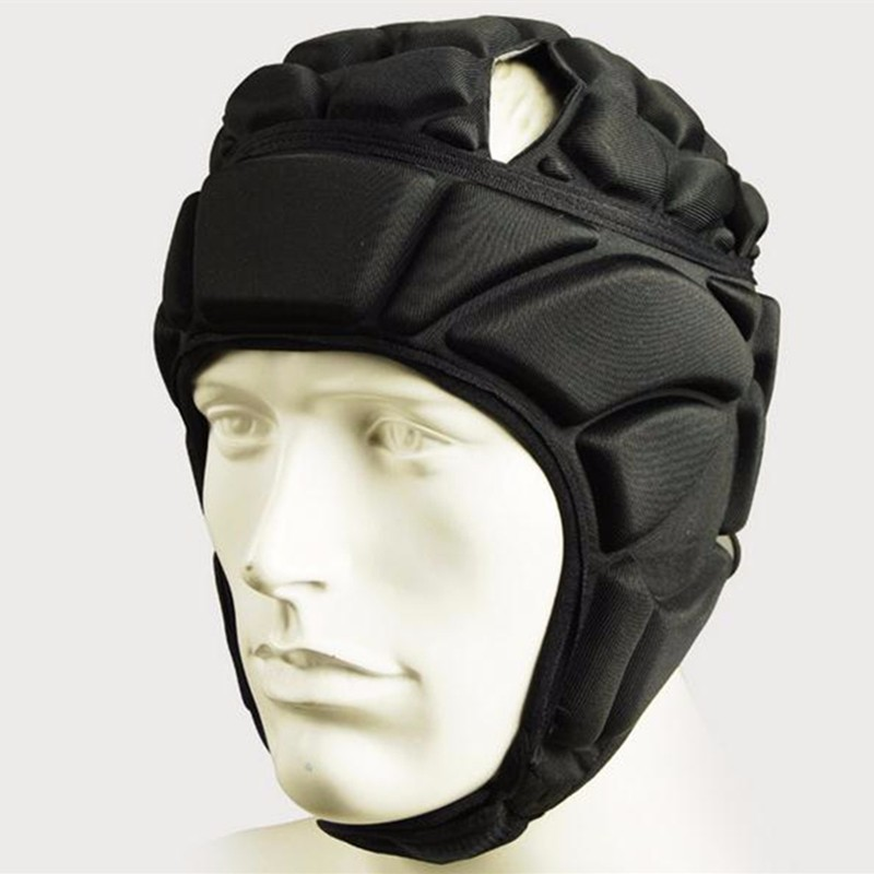 2017 New Mens Pressional Football Soccer Goalkeeper Helmet Sports Rugby Scrum Cap Headguard Goalie Roller Hat Head Protector ...