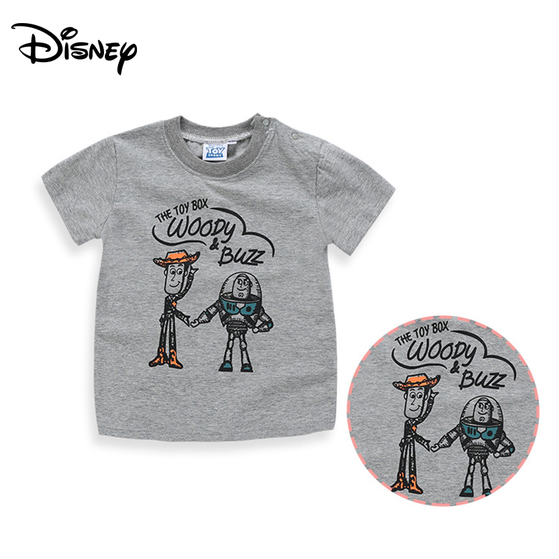 Disney T-shirt cartoon boys and girls T-shirt toy mobilization Buzz Lightyear children short-sleeved T-shirt(China)