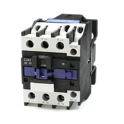 50/60Hz 220V Coil 50A 35mm DIN Rail 3P 1NO AC Contactor CJX2-3210