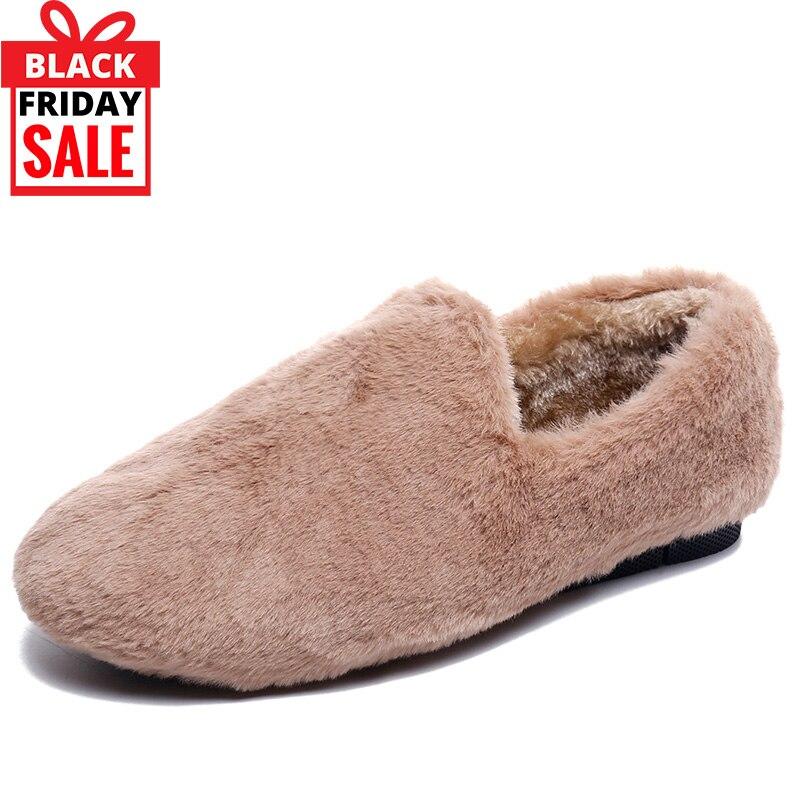 bc81255a509 Comprar Moxxy Invierno Piel Zapatillas Mujer Caliente Señoras De ...