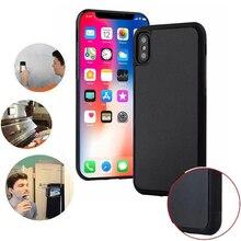 Антигравитационный чехол для телефона iPhone XR X XS Max 8 7 Plus 6 6 S SE 5 5S ударопрочный чехол магические нано Антигравитационные Чехлы АДСОРБИРОВАННЫЙ чехол