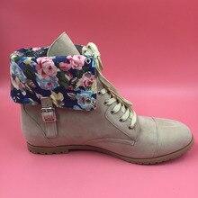 2016 Botas Mujer Botas Marrón Claro Imagen Real Partido de Las Señoras botas de Impresión Botines Mujer Partido de Las Señoras Zapatos Planos Con Los Zapatos barato