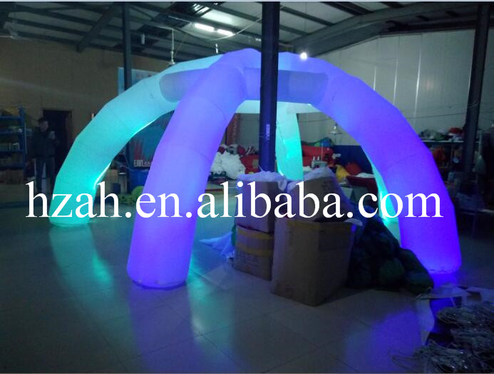 Colorful Lighted Inflatable Tent For Wedding