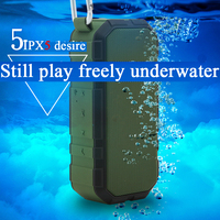 ماء فاخرة مرحبا فاي مضخم الصوت بلوتوث الاهتزاز اللاسلكي tf المحمولة قوة البنك بطارية المحمول