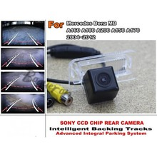 Smart Tracks Chip Camera / HD CCD Intelligent Dynamic Parking Car Rear View Camera For Mercedes Benz MB A160 A180 A200 A150 A170