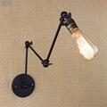Лофт Промышленные регулируемые железные Настенные светильники с длинным поворотным рычагом винтажные Настенные светильники для прохода к...
