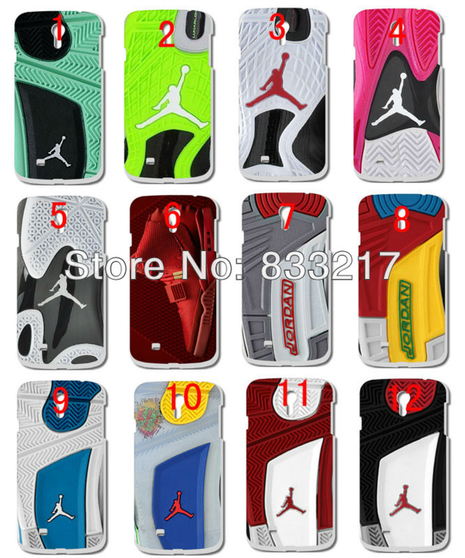 Hot new 1s Jordan sole shoes hard white case cover Samsung S4 (i9500)+ - customizecases store