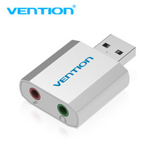 Vention Mini External USB Sound Card USB To 3.5mm headphone Adapter Audio Card For Mic Speaker Laptop PS4 Computer SoundCard hot(China)