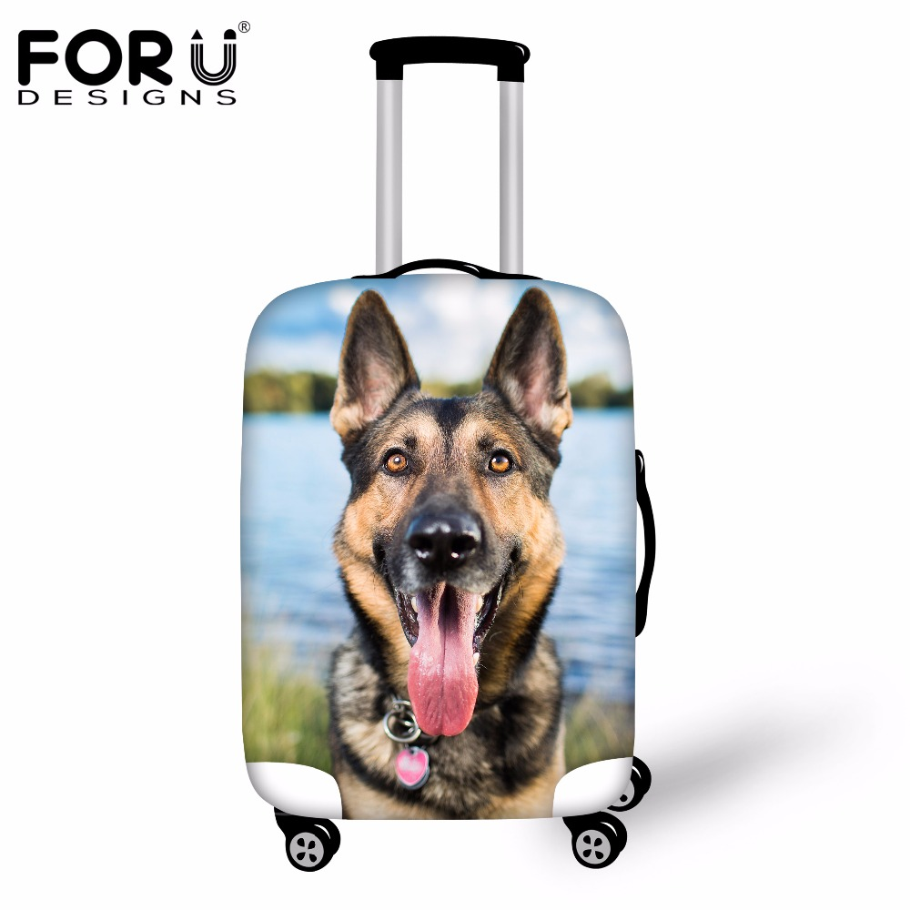 FORUDESIGNS 3D Husky Dog Travel Suitcase Cover Anti-dust Waterproof Luggage Protective Cover For 18 20 22 24 26 28 30 Inch Case
