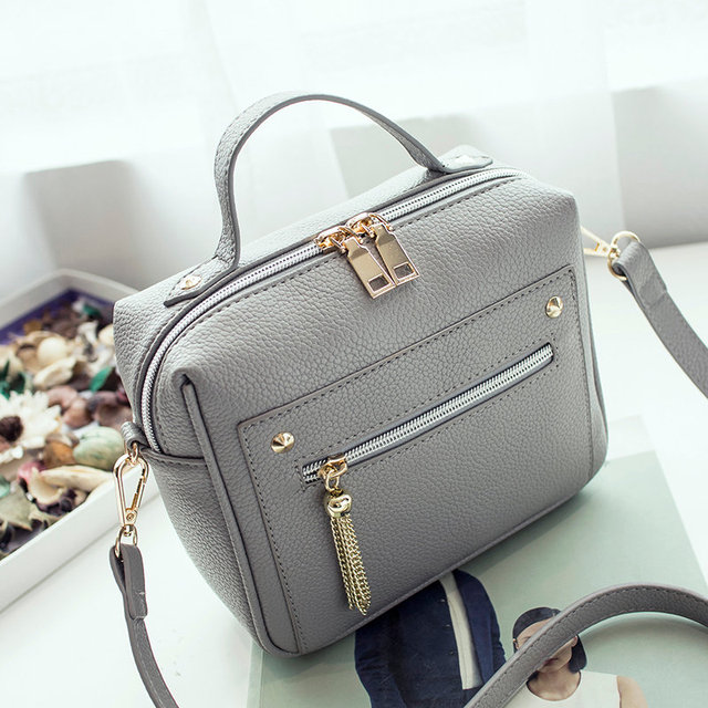 High Quality PU Leather Women Top-handle Bag Small Women Messenger Bag Girls Shoulder Bag Fashion Women Bags