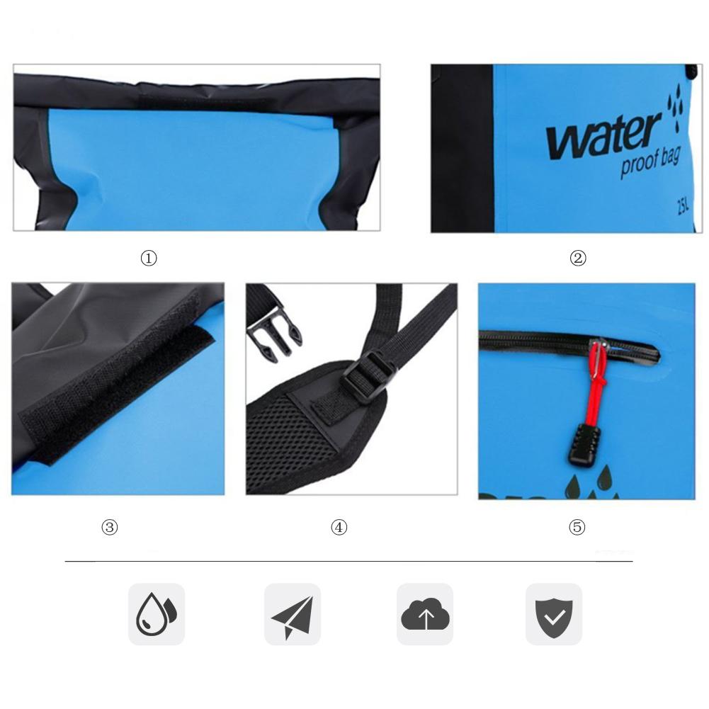 0c35b3ca6e22 2) Waterproof PVC material 3) Hook   loop 4) Shoulder strap   buckle 5)  Zipper