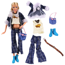 Our Generation Doll Girl Fashion Coat Pant T-shirt Belt Shoes Clothes Set For Barbie Doll Design Outfit Best Gift Accessories nk one set original princess doll dress noble party gown for barbie doll fashion design outfit best gift for girl doll