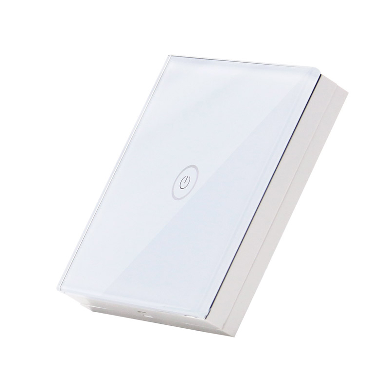 Saful Tempered Crystal Glass Panel Advanced Wireless Switch with LED Indicator Light Switch,Touch Switch Accessories