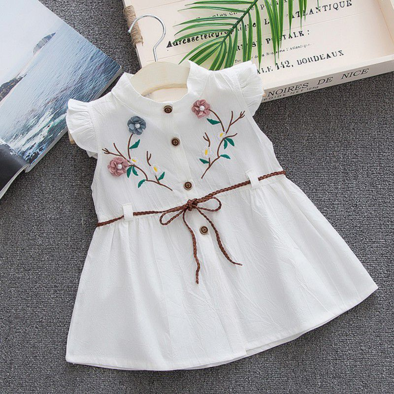 56303d03fb308 US $5.58 17% OFF|Summer princess dress Cotton baby girl embroidered peach  vest dress 1 4Y High Quality baby girl infant dress-in Dresses from Mother  & ...