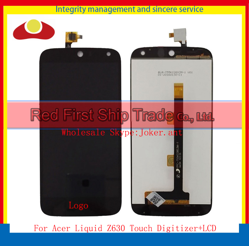 High Quality 5.5 For Acer Liquid Z630 Lcd Display With Touch Screen Digitizer Assembly Complete Black+Tracking Code high quality 5 5 for acer liquid z630