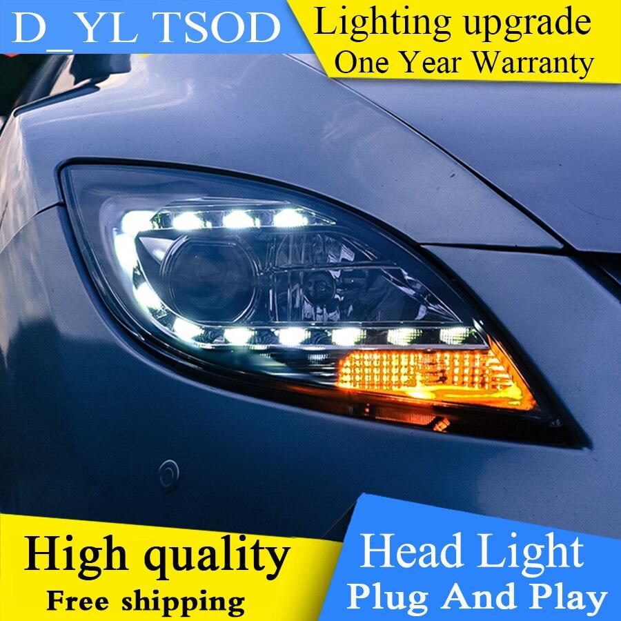 Car Styling For Mazda 6 headlights 2009 2014 Mazda 6 led headlight Head Lamp led drl
