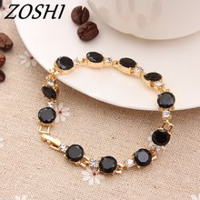 ZOSHI Fashion Black White Cubic Zirconia Bracelets & Bangles Luxury Romantic Wedding Jewelry Gift Charms Bracelets For Women