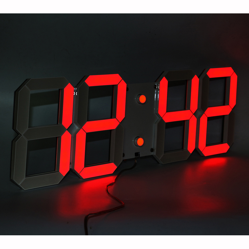 Մեծ ցուցիչով առաջնորդվում է պատի ժամացույցը `հեռակառավարման հաշվարկով հաշմանդամություն ունեցող / մինչև ժմչփ ժամացույցով, ջերմաստիճանի ամսաթվով 6 '' բարձր առաջատար թվանշանների բարձր տեսանելիությամբ