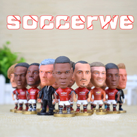 14PCS Display Box Soccer ManUtd Player Star Figurine 2 5 Action Doll Classic Version The Fans