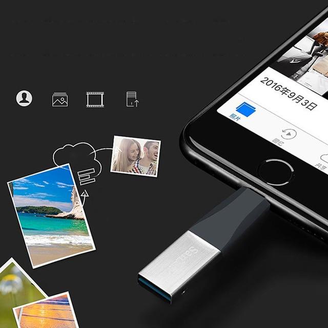 Sandisk iXPAND FLASH DRIVE Metal Pen Drive USB Flash Drives