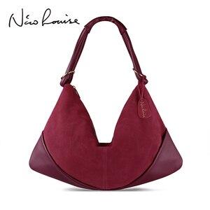 Image 1 - Sacs à Main en cuir suédé pour femmes, Sac à bandoulière Fashion Hobo, Sac de loisirs Shopping décontracté
