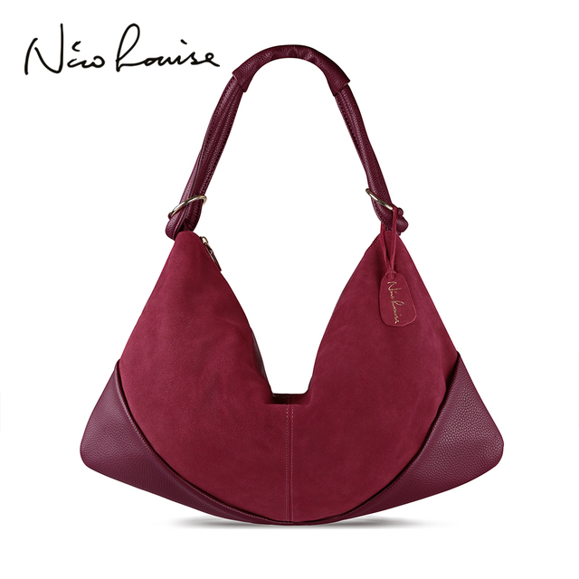 Women Handbags Real Suede Leather Shoulder Bag Ladies Fashion Hobo Bags Casual Leisure Shopping Sac A Main Femme Bolsos Mujer