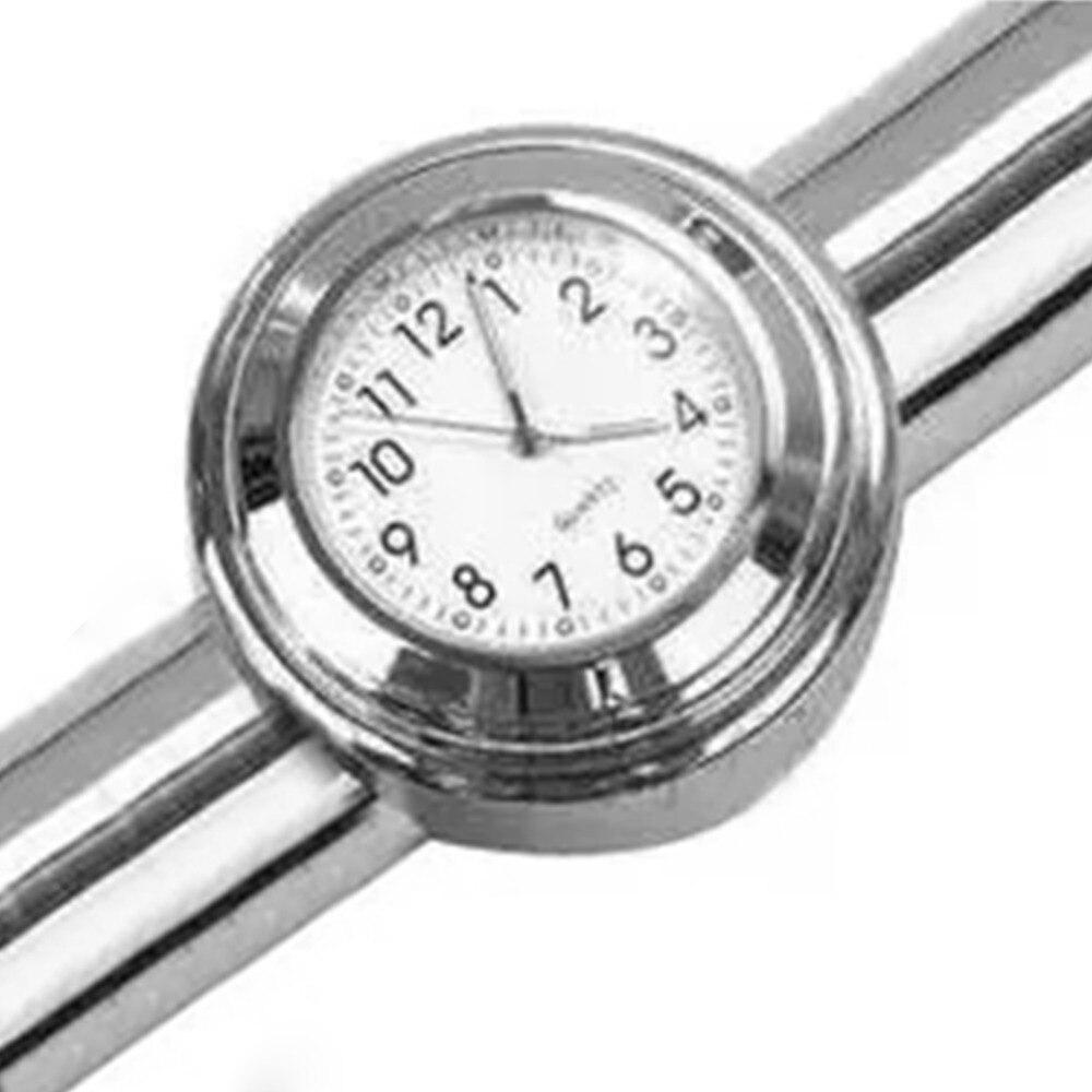 22 mm accesorio de la motocicleta impermeable montaje del manillar de reloj del