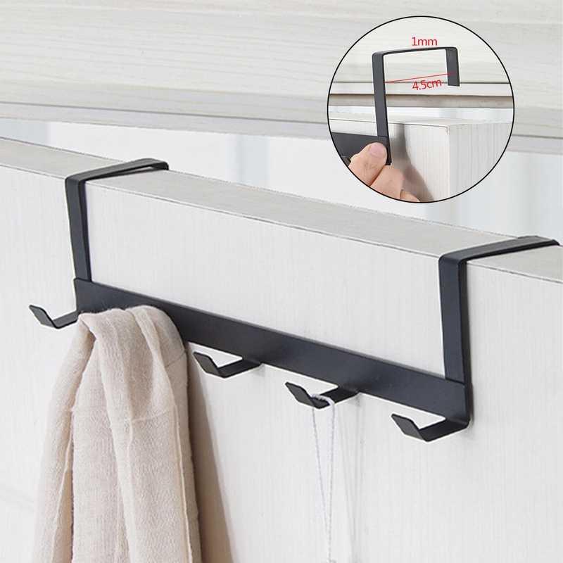 Ba/ño 4 Piezas Acero INOX Colgador Puerta Ahorra Espacio Door Hooks para Dormitorio Dsaren Gancho Puerta Colgador Cocina y Oficina