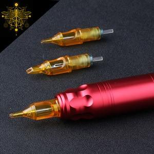 Image 4 - Caneta de tatuagem rl com 20 peças, agulhas estéris descartáveis para tatuagem giratória, caneta redonda, forro e sombreador