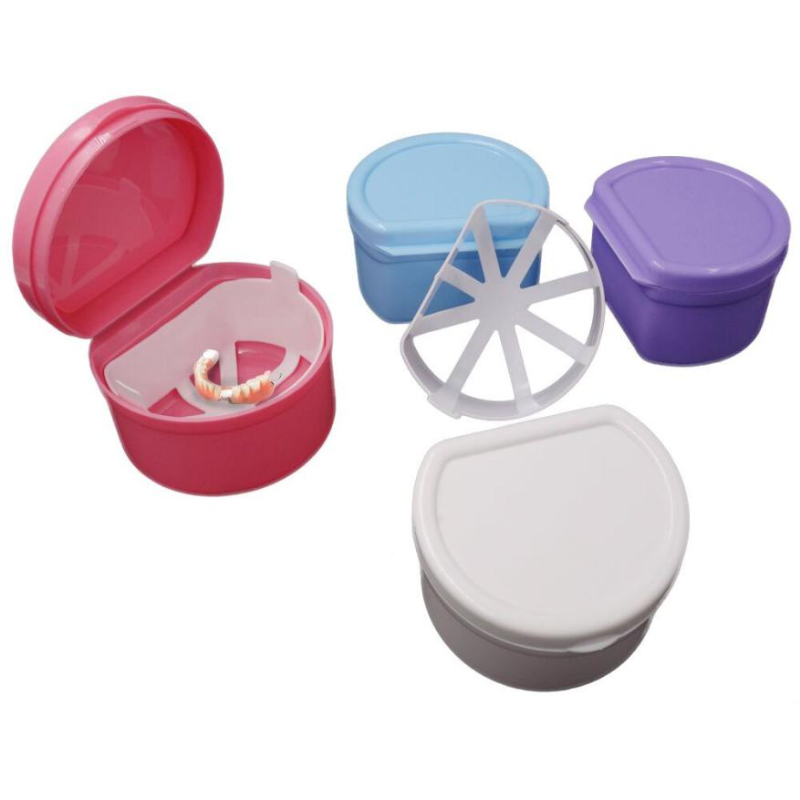 Delightful Professional Food Storage Containers Part - 11: Hot Selling Colorful Women Professional Women Fashion Denture Case Container  Dental False Teeth Storage Box Rinsing