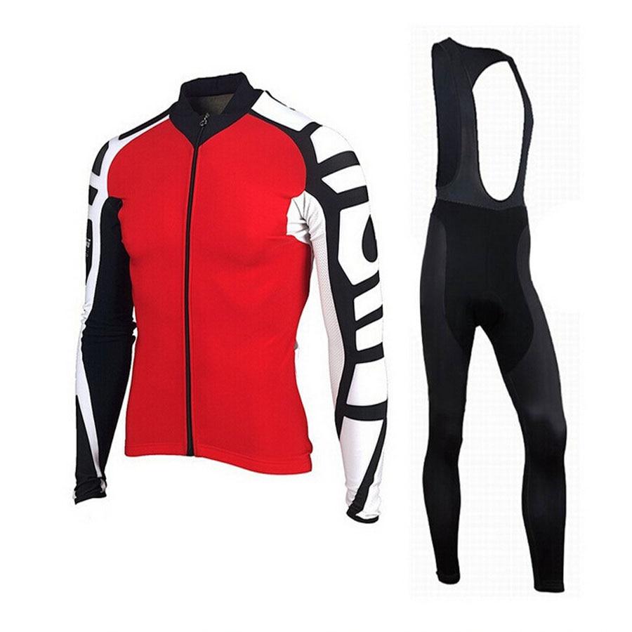 ФОТО 2017 Cycling Jersey Set Winter Long Sleeve Bike Thermal Fleece Maillot Ropa Ciclismo Invierno MTB Bicycle Clothing