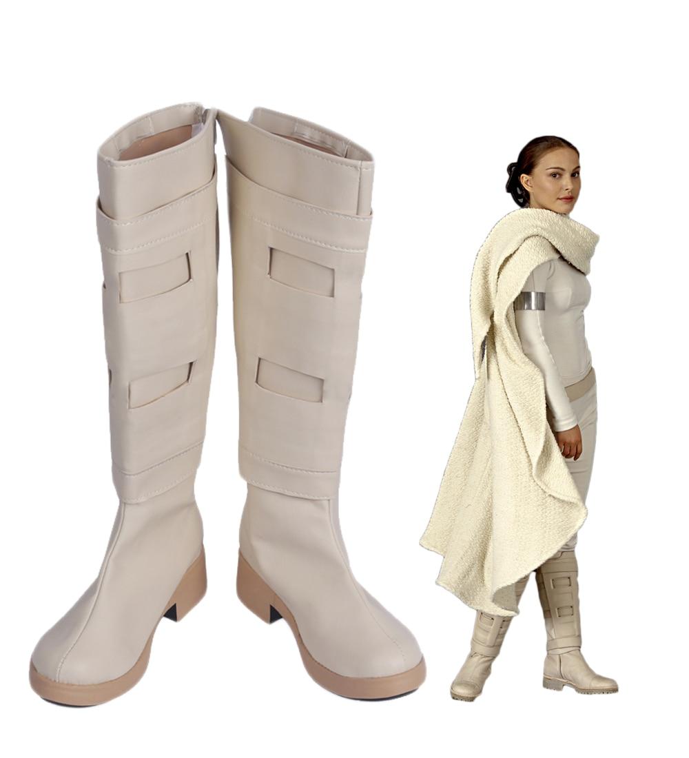 Star Wars 2 Padme Amidala Queen Amidala Cosplay Boots Shoes Custom Made