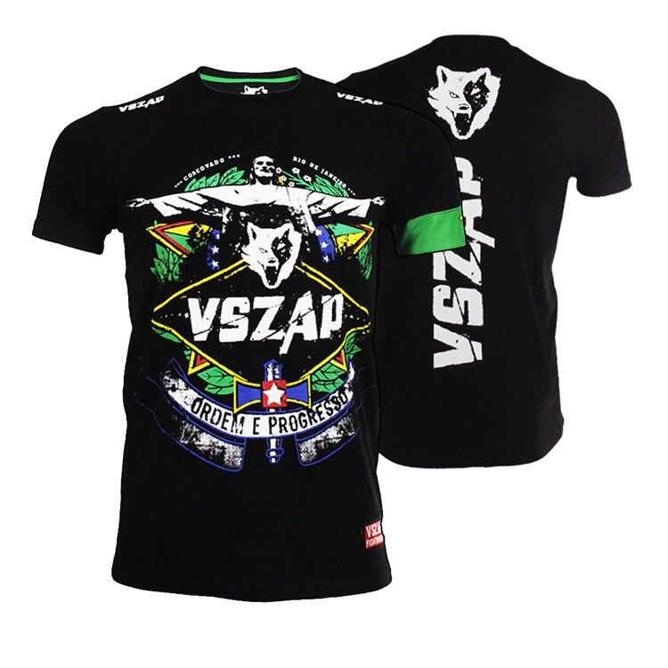VSZAP Rio DE Janeiro Mental Fitness Fight Short Sleeve T-shirt MMA Fighting Thai Boxing Jesus Wulin Wind.
