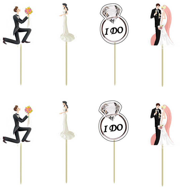 Wedding decoration Cupcake Topper Picks Engagement  party decoration mariage wedding favors gift birthday party decorations kids