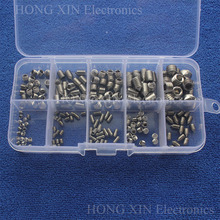 M3/M4/M5/M6/M8 Socket Hex Button Head Stainless Steel PCB Assortment Grub Screws Bolt Assortment kit Fastener Cup Point screw m4 316 stainless steel grub screws cup point hex socket set screw