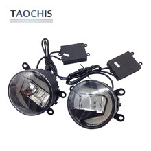 TAOCHIS Universal led fog Lamp assembly with day time running light for Ford focus Fusion Explorer Mustang Ranger Tourneo Nissan(China)
