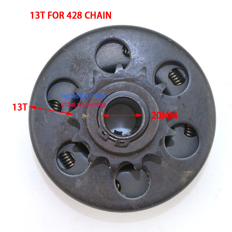 free shipping 20mm Automatic Centrifugal Clutch Drive Sprocket 428 3 4 13 Tooth Drifter For GoKart
