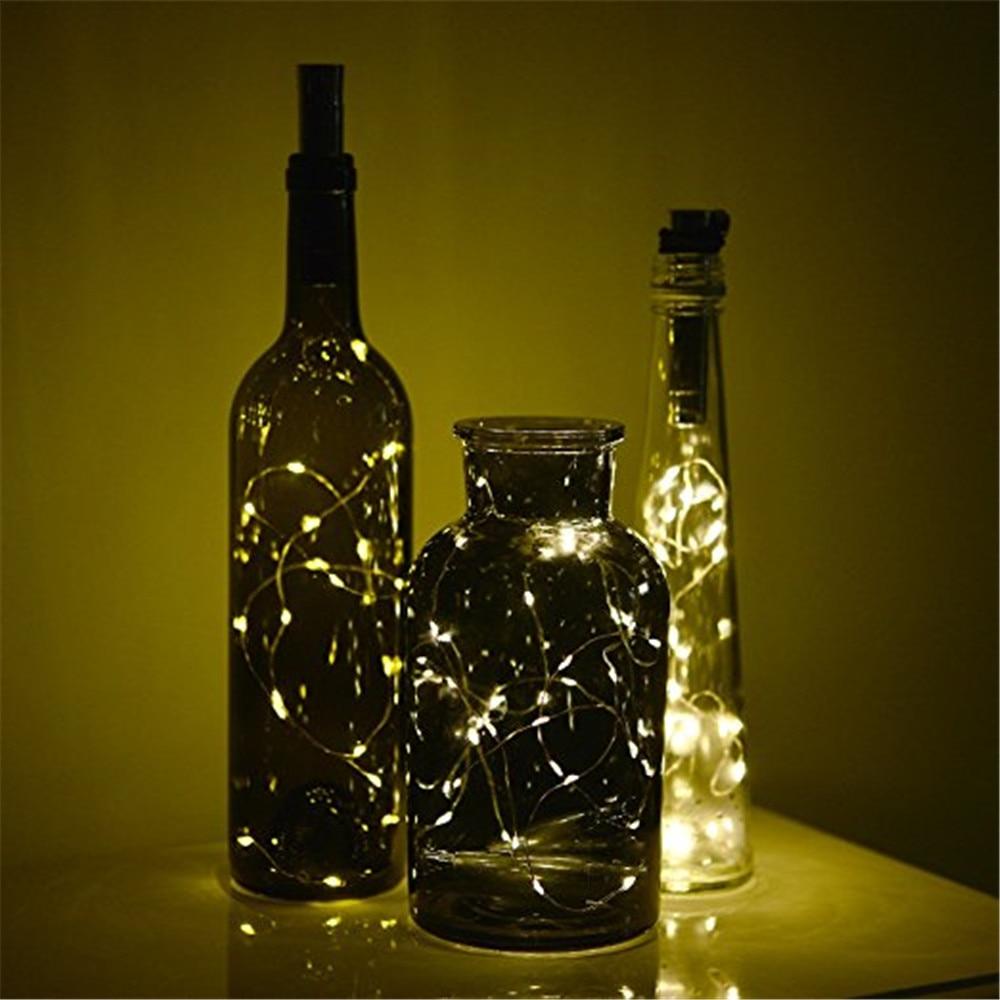 Image 5 - ECLH 1*AA battery power Warm white Bottle Lights LED Cork Shape String Lights for Bistro Wine Bottle Starry Bar Party Valentines-in Novelty Lighting from Lights & Lighting