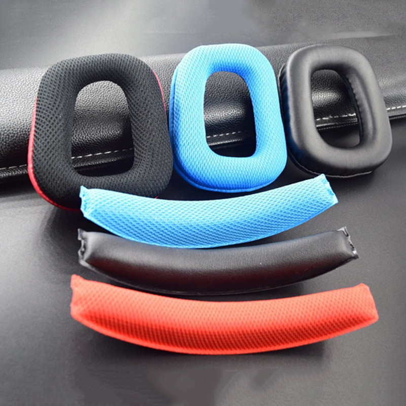 Headphone Earpads Covers For Logitech G35 G930 G430 F450 Headphone Cushion Pad Replacement Ear Pads Head Beam Sponge
