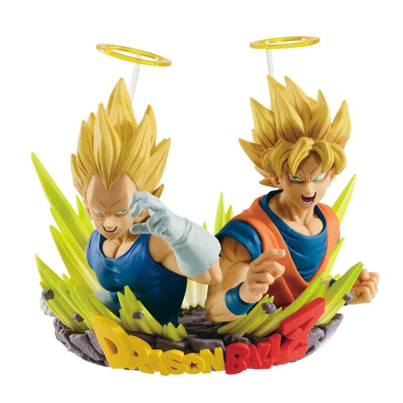 Dragon Ball Z Com: figuration GOGETA Vol.2 Collection Figure-Super Saiyan Goku et Vegeta buste Statue Figure Modèle Jouets