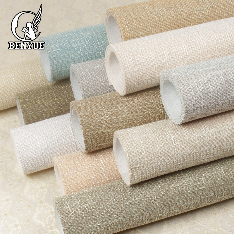 Linen Effect Wallpaper Flax Design Wall Covering For Bedroom Office Wall Decor Modern Wall Paper Decor Home  Living Room no frame canvas