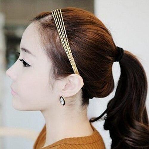 Hot Gold Women s Multilayer Alloy Tassel Chain Hair Hoop Headpiece Hair Band Headband Hairwear 5BQH