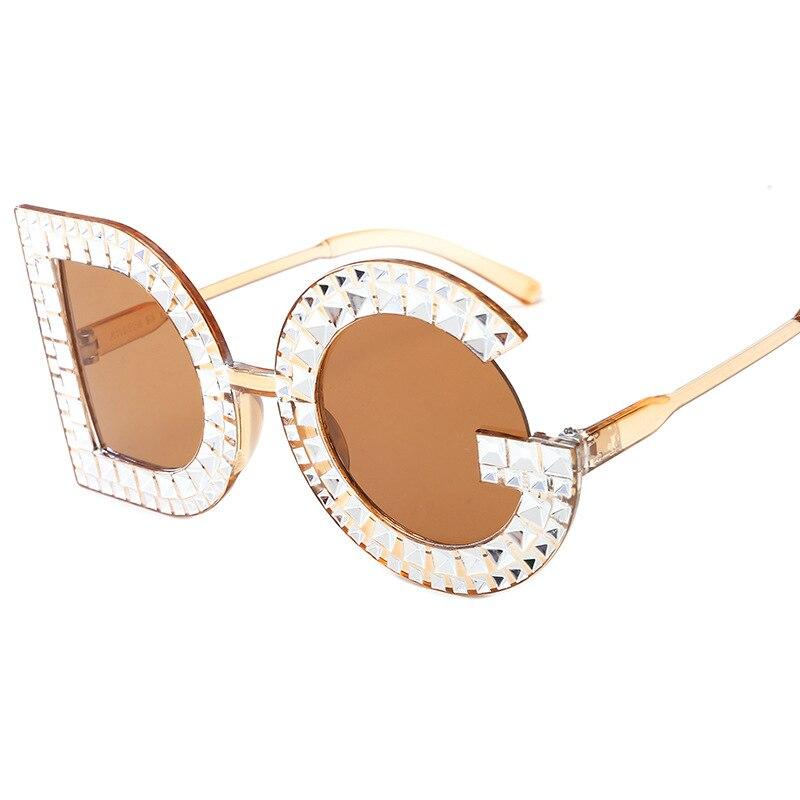 5f6619bbbb5 Luxury Oversized Sunglasses Women 2019 Brand Designer Black Red Glasses  Women s DG Diamond Sunglasses UV400