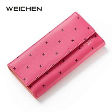 2017 Free shipping new fashion women wallet leather brand wallets women wholesale lady purse High capacity
