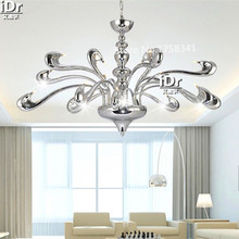 18 Heads European fashion LED chandelier modern minimalist living room lights bedroom villaHotel Restaurant Crystal Lighting