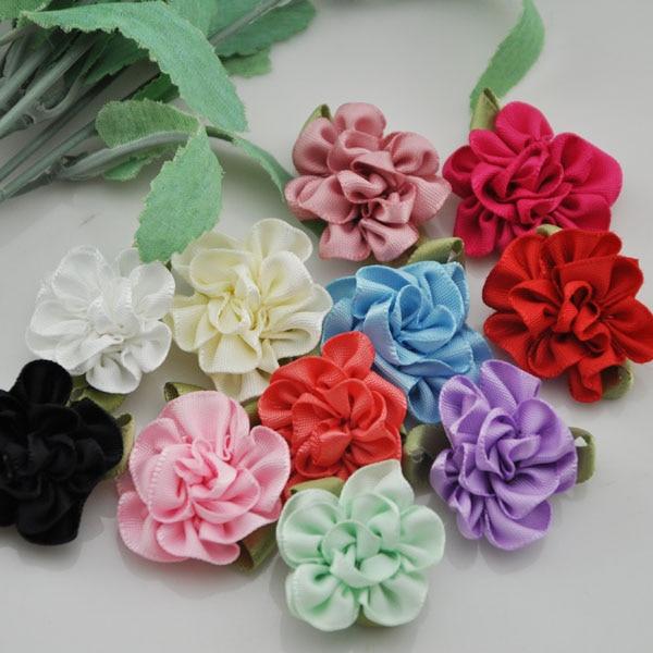 40pcs Ribbon Flower carnation Appliques sewing craft wedding lots A068 U  Pick c36eb46569e2